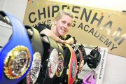 Kickboxer Annabelle Shoob shows off her current collection of title belts at her Chippenham Kickboxing Academy Picture by Siobhan Boyle (SMB260/4)