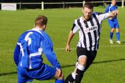 Stuart Windsor got both of Calne Town's goals against Wincanton Town last weekend (Photo: Dave Gillett)
