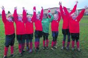 Lea & Garton Primary School girls, who finished runners up