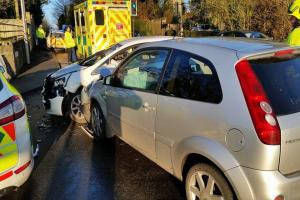 UPDATE: Woman has lucky escape in Leigh Park crash