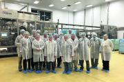 Members of North Wilts NFU visit Westbury Dairies to look at how it produces high-quality butter and skimmed milk powder