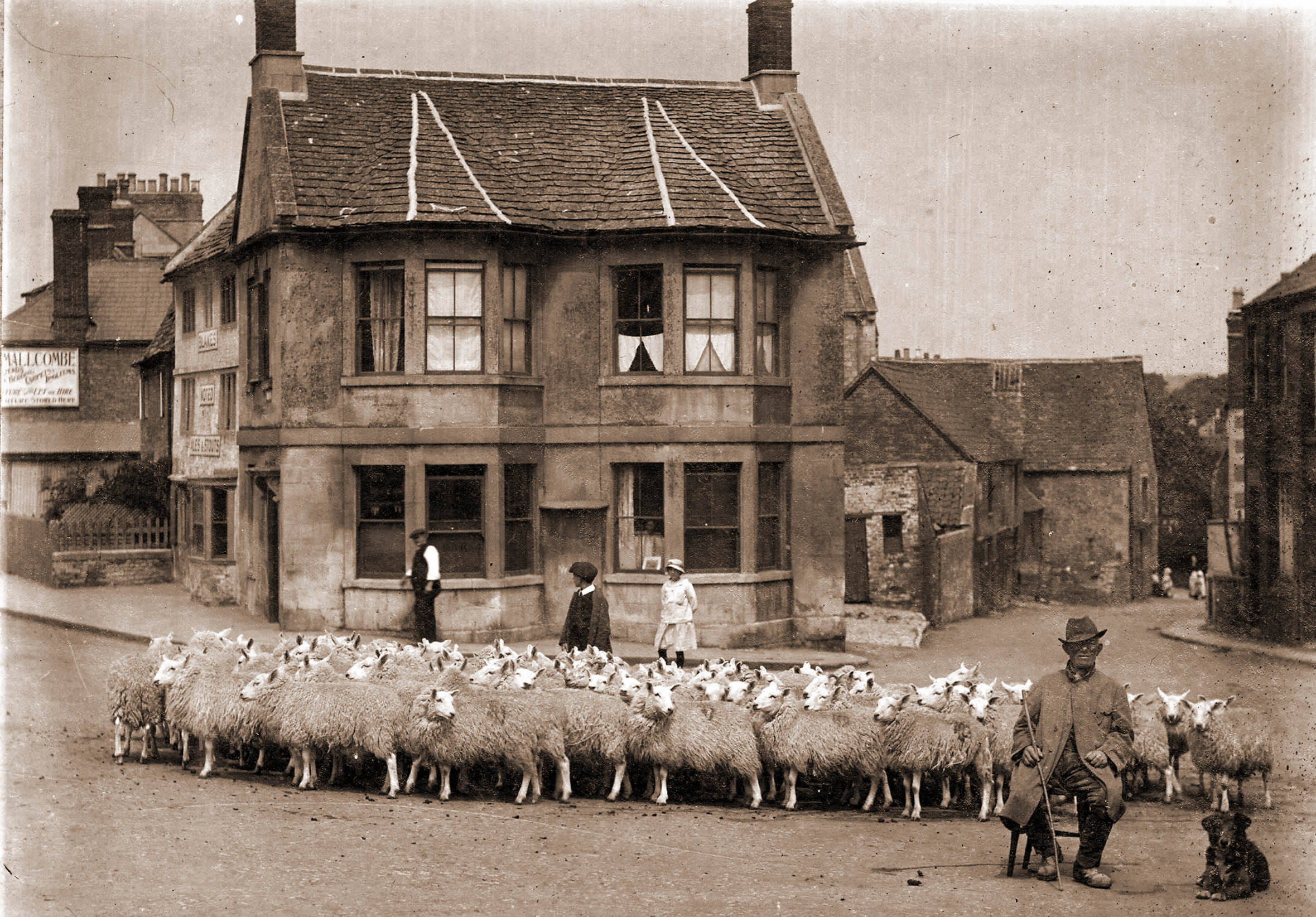 The Three Crowns locals will recreate this photo from the front of Andrew Swift and Kirsten Elliott's book, Inns of Wiltshire: in old photographs