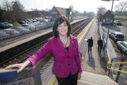 Devizes MP and railways minister Claire Perry at Bedwyn station