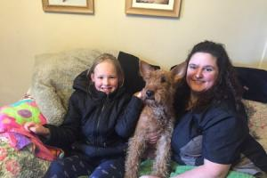 Seven-year-old daughter cured of debilitating fear of dogs after help from stranger