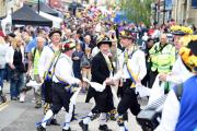 The Wild Thyme Border Morris take part in last year's Chippenham Folk Festival street parade