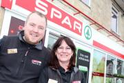 The Spar Shop in Pewsey has won Wiltshire's Best Convenience Store. Pictured: (LEFT TO RIGHT) Dave Benson (Manager) and Karen Morell (Assistant Manager). Pic by Vicky Scipio (25563047)