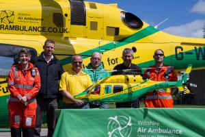 VIDEO: 'Mini' Wiltshire Air Ambulance built to help fundraising as labour of love