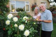 Corsham in Bloom winners Maureen and Rodney Cundict in 2013