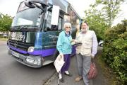 Staverton residents Beryl and Eric Curtis with books they have just borrowed from the mobile libraryPics by Diane Vose DV2253/02