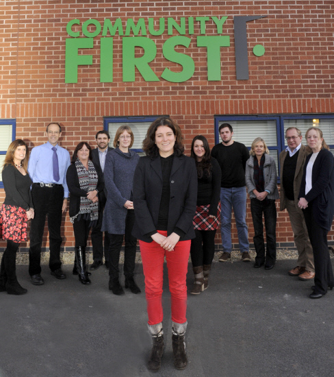 Community First have announced Lynn Gibson as the new chief executive Pictured l-r are Katrina Watson, Peter Brearley, Mary Hardwidge, Tim Coomer, Belinda Fowler, Lynn Gibson, Alex Neale, Alex North, Jennie Lane, Alan Truscott and Sharon WoolleyPicture by
