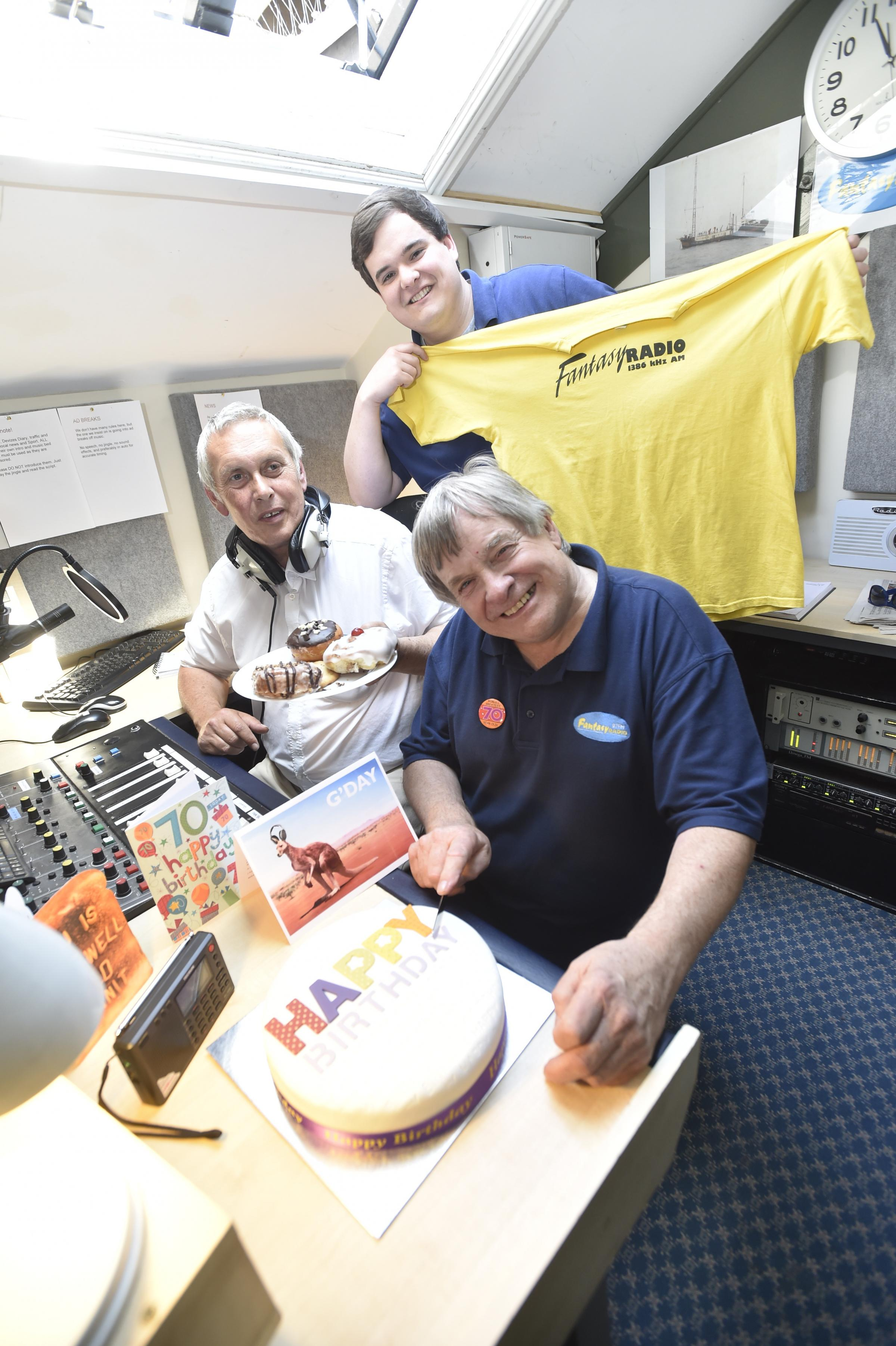 Fantasy Radio in Devizes is celebrating its 20th anniversary on air. From left, John Peters and Tom and Phil Dawson. By Diane Vose DV2315/04