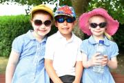 Stanton St Quintin School pupils enjoy the summer sunshine while keeping safe with hats, glasses and water. Picture by Diane Vose