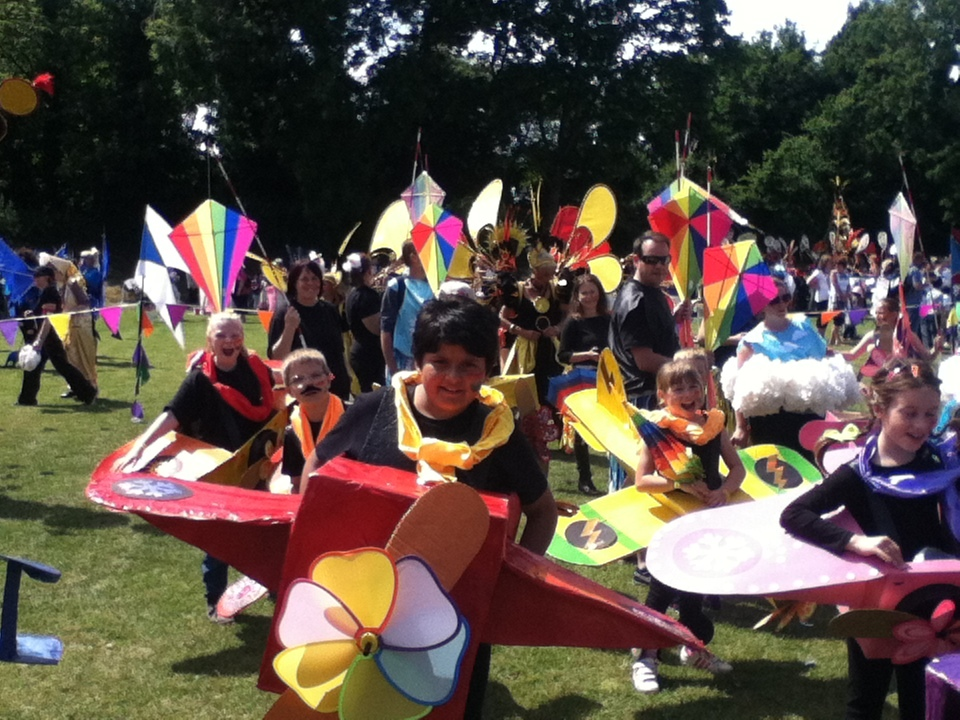 Southbroom students taking part in the Ryde carnival parade