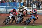 Grzegorz Zengota (far left) and Nick Morris led the way for the Robins in their win over Leicester Lions