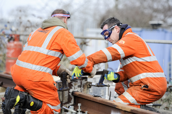 Network Rail announces engineering work to electrify the line between Reading and Newbury. Pic: Alex Skennerton.