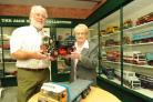 Atwell-Wilson Motor Museum director David Edwards with Beryl Spittle