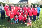 Devizes Football Youth Club are upset that there isn't enough places in Devizes to train..Pictured: The Youth teams with coaches..Pic by Vicky Scipio. (46961745)