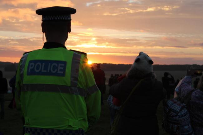 No arrests were made during the Solstice celebrations with Wiltshire Police describing the event as having a peaceful atmosphere