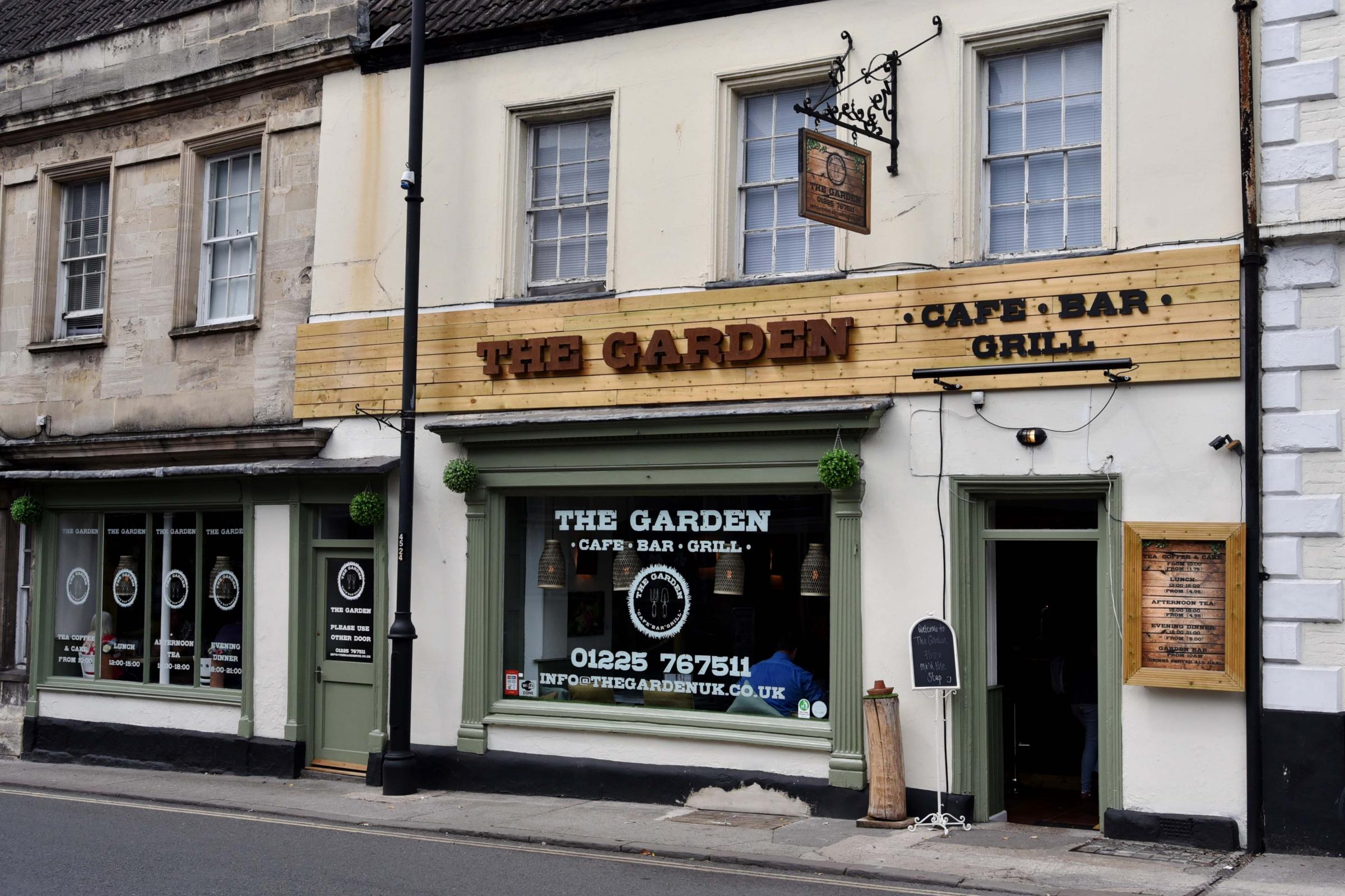 The Garden , cafe bar and grill, Trowbridge..Glenn Phillips  GP453.
