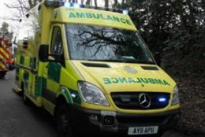 THREE people have been taken to hospital following a crash between a HGV and car this afternoon in Chippenham.