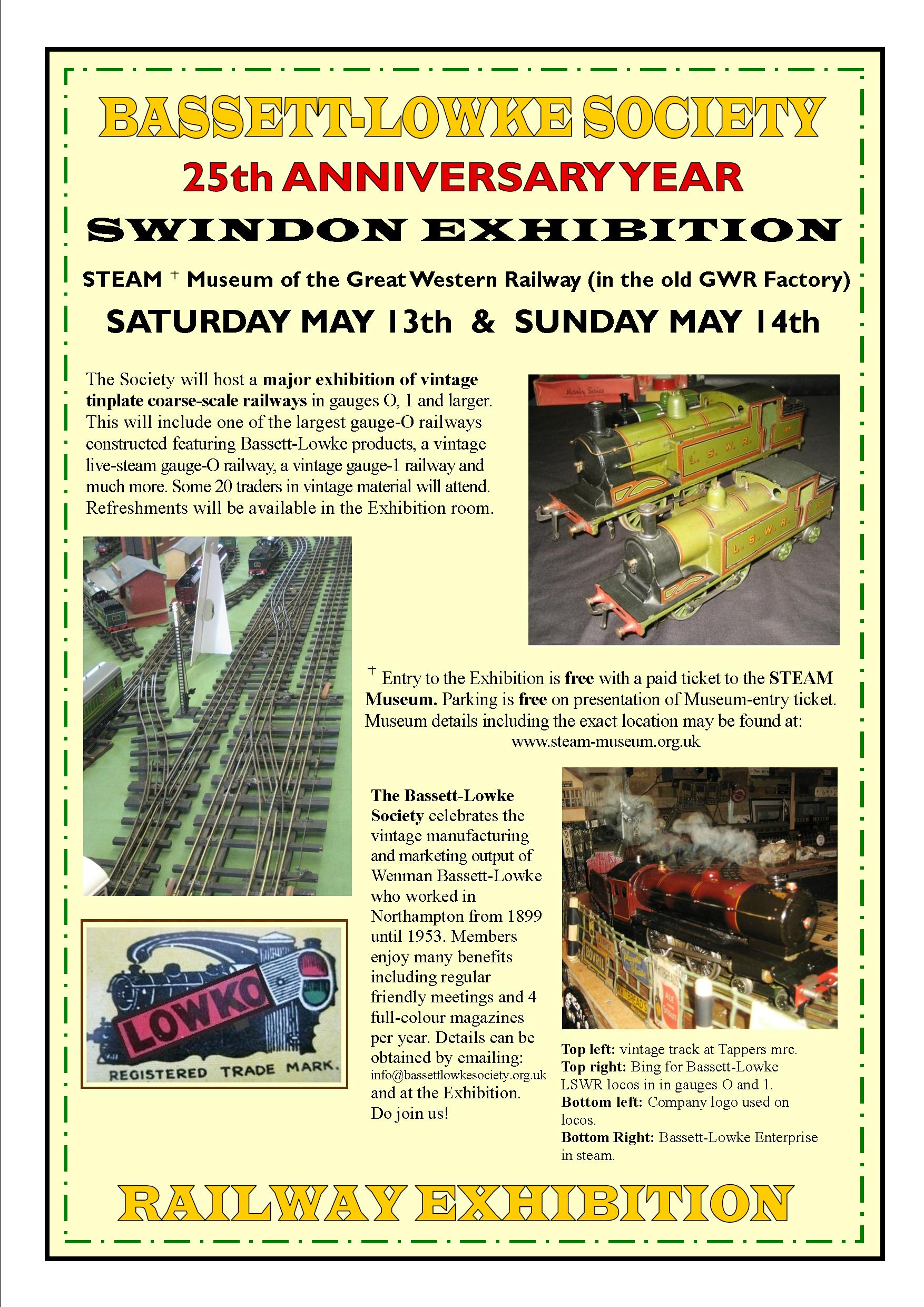 Bassett Lowke Society 25th Anniversary Railway Exhibition