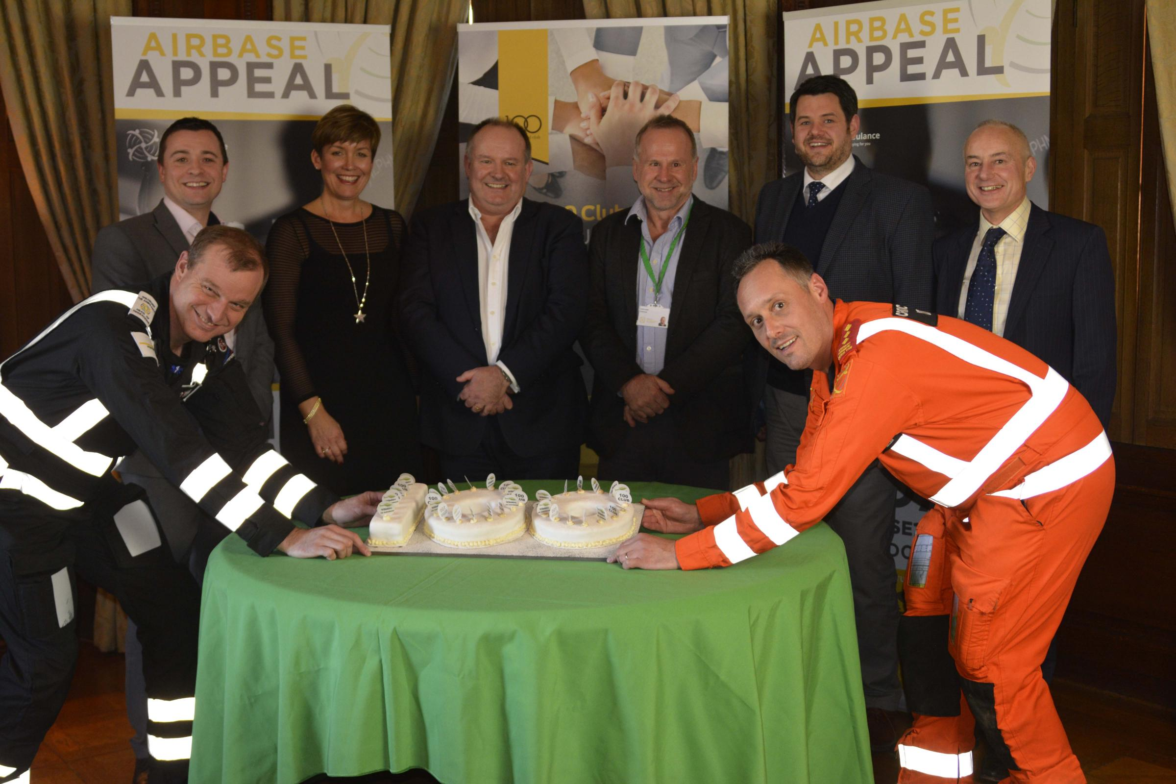 Kevin Reed, head of operations at WAA, Darren Harper, of Excalibur, Caron Staddon, of Coombe Castle, Jeffrey Thomas, of Hartham Park, Chris Lear, WAAchairman, Ben Clinch, of Kingstons, Kevin Basnett, of Goughs, and Richard Miller, critical care paramedic