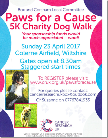 Paws For A Cause 5k Sponsored Dog Walk For CRUK