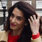 The Wiltshire Gazette and Herald: Amal Clooney stunned in a gorgeous red dress as she gave a speech in London