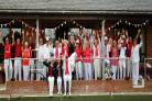Devizes Bowls Club celebrate their St George's Day match against Southampton (Old) Bowling Green