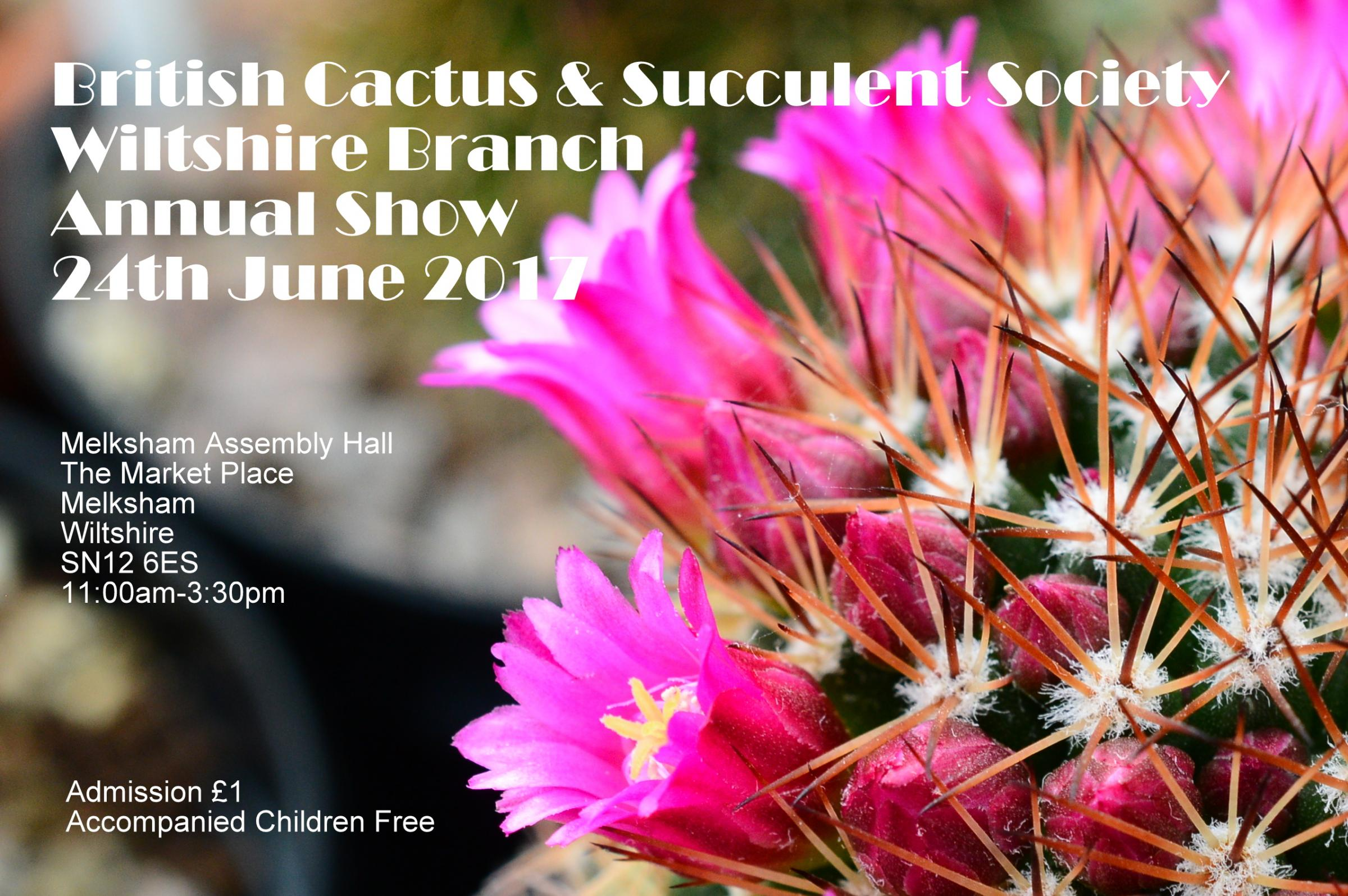 The British Cactus & Succulent Society Wiltshire Branch Annual Show