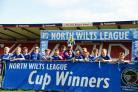 FC Chippenham U13 White celebrate their win at the County Ground in Swindon