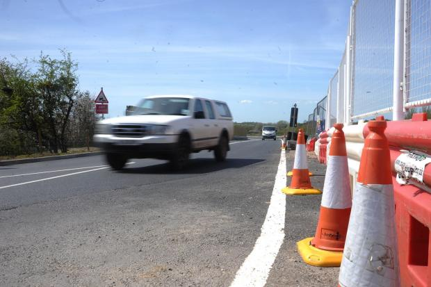 The Wiltshire Gazette and Herald: Traffic using the relief road when it was open