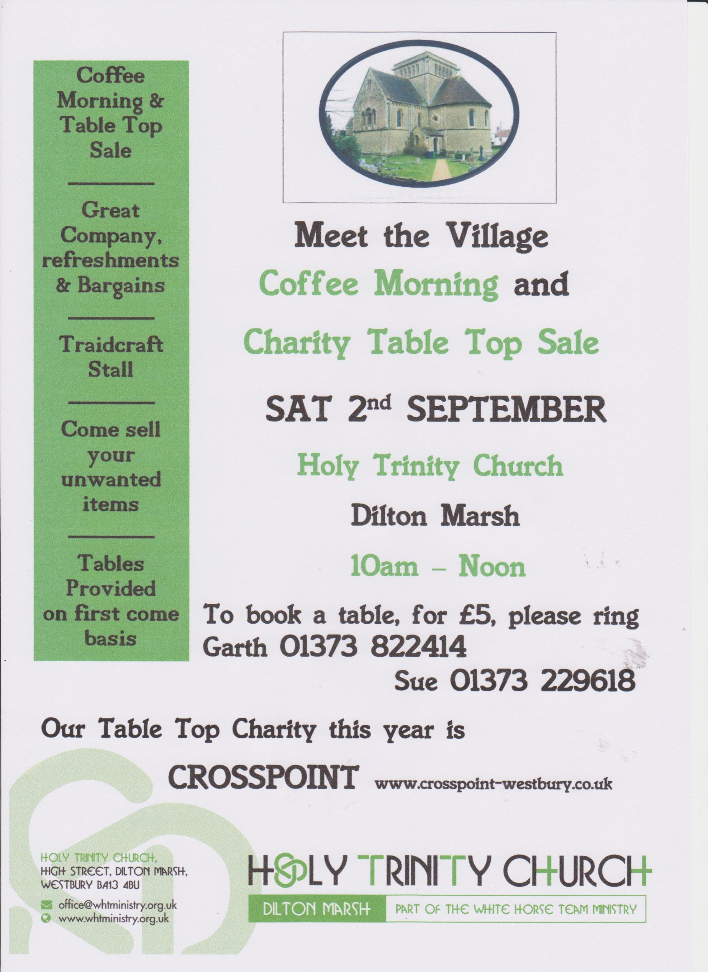 Coffee Morning & Charity Table Top