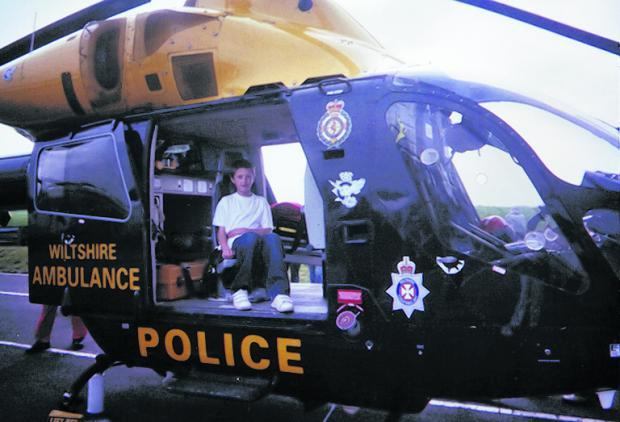 Adam Corbett of Kington St Michael in the Wiltshire Air Ambulance