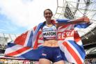 Polly Maton celebrates claiming silver in the World Para Athletics Championships