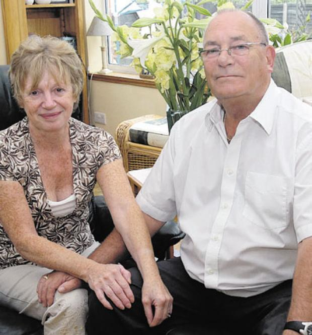 Sue and Len Goodridge believe the air ambulance should be kept as it is
