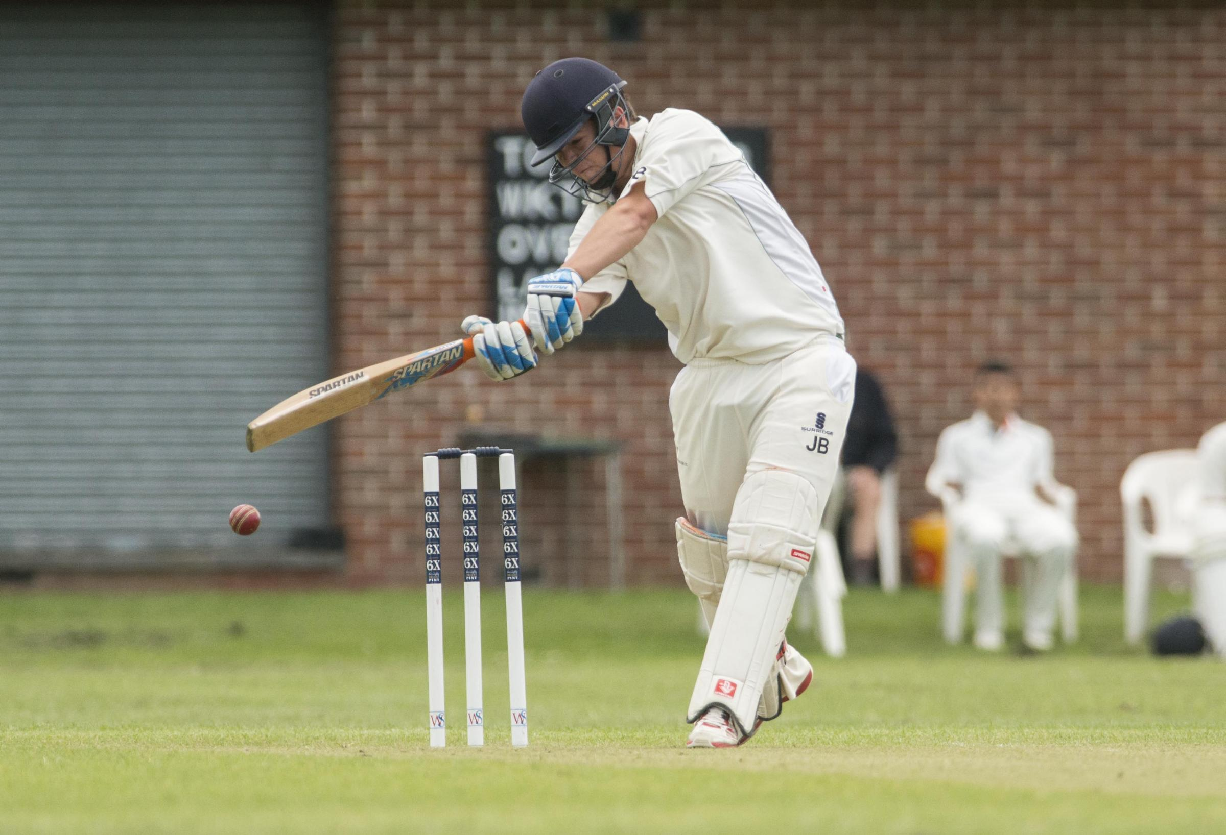 Wanborough's John Baldwin plays a shot this weekend Pic Vicky Scipio