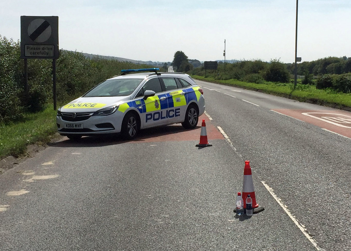 A motorcyclist died in a crash on the A346 this morning