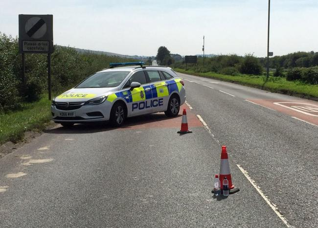 Part of the A346 at Ogbourne St George is closed because of a crash