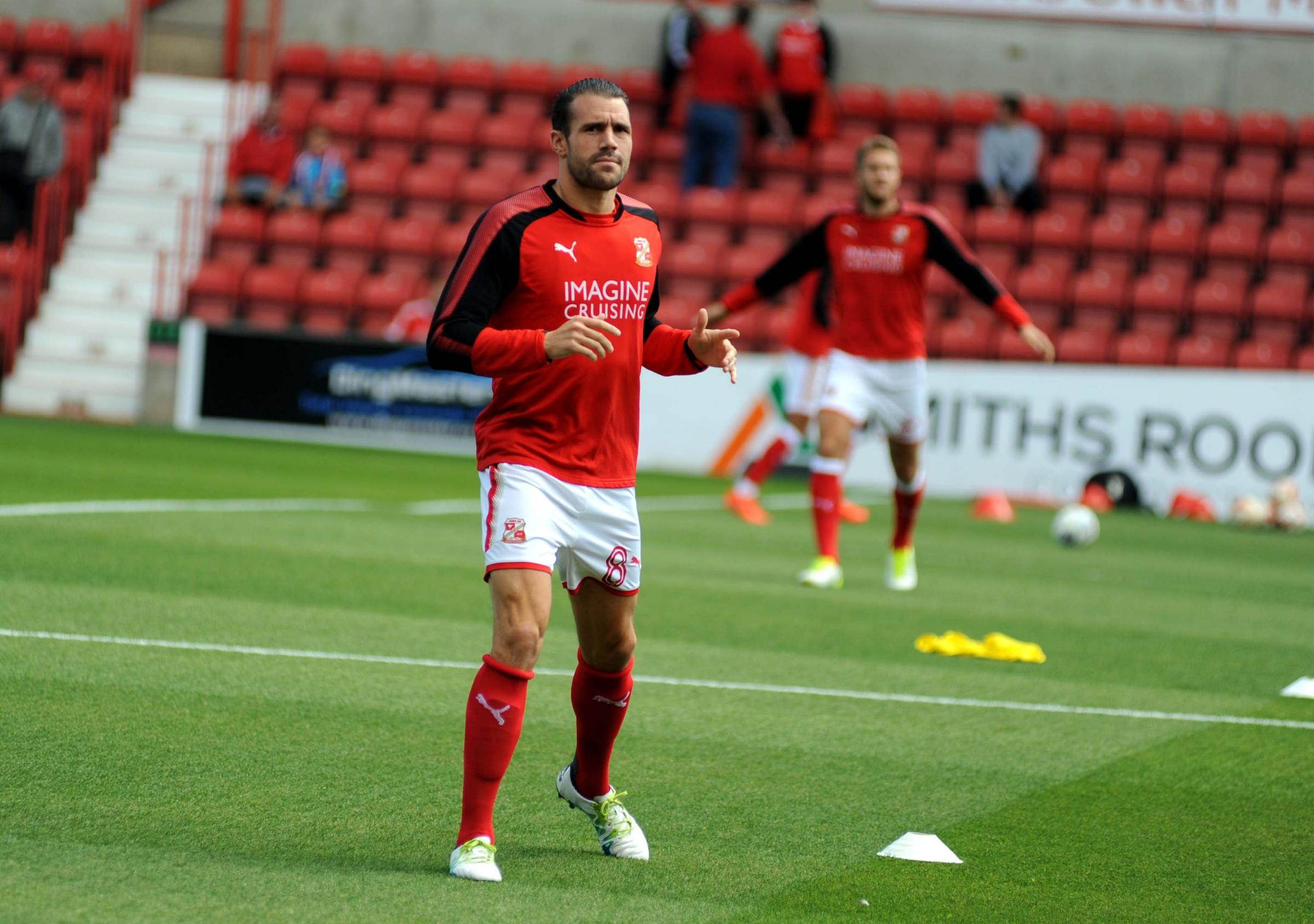 Midfielder James Dunne has appeared in 18 of Swindon Town's 20 matches in all competitions since joining the club over the summer