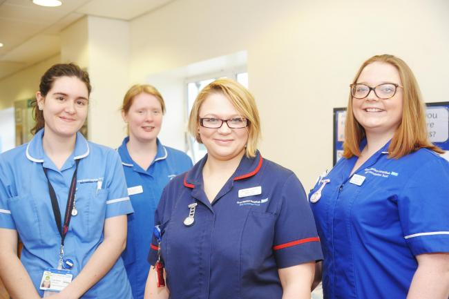 GWH staff Lidia Ramos, Sarah Kimber, Nicola Lennon and Melissa Clews. Picture: THOMAS KELSEY