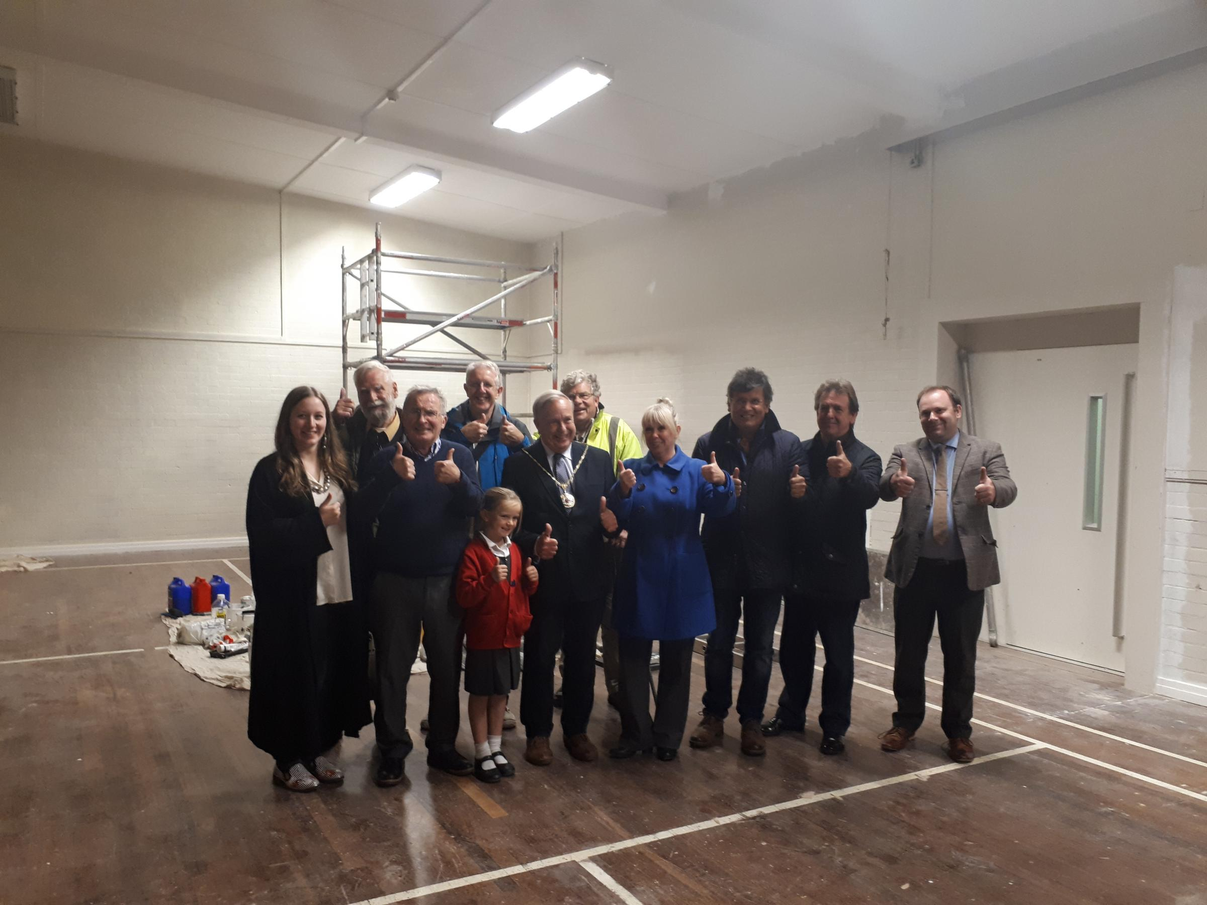 Marlborough Town councillors in the newly renovated Marlborough Community and Youth Centre