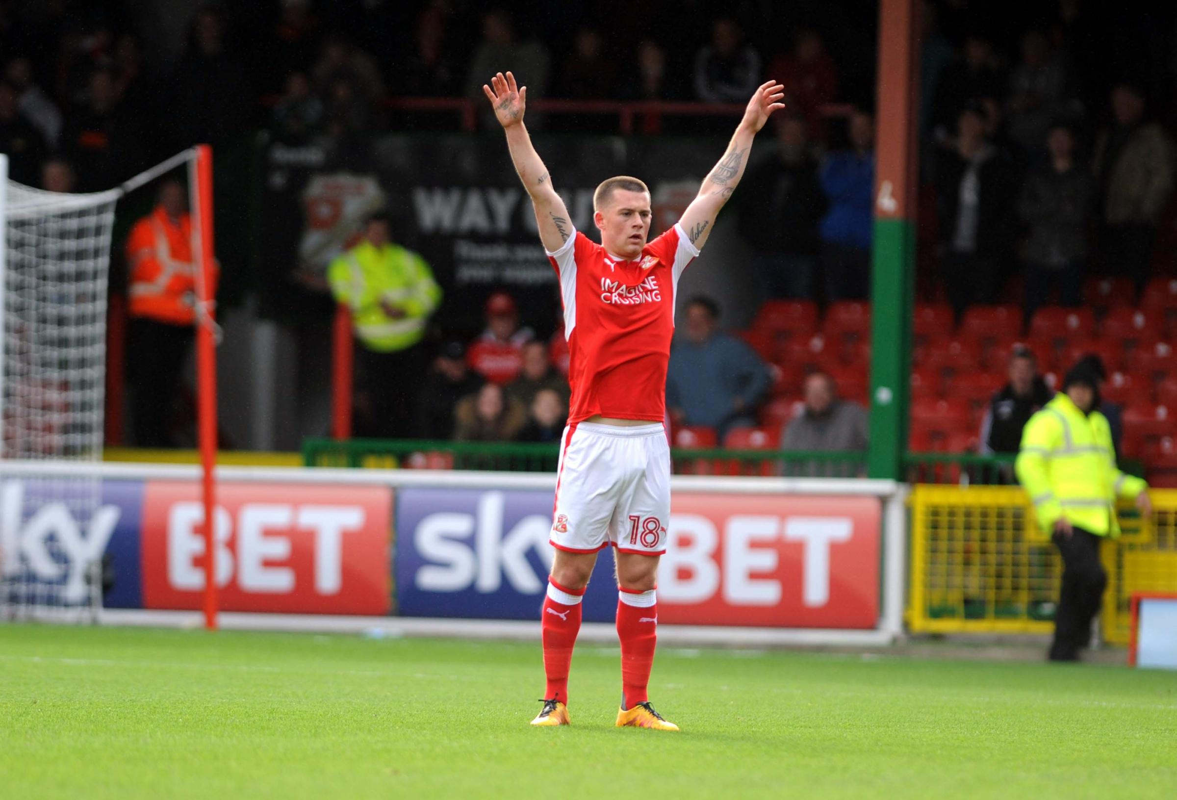 Donal McDermott suffered an injury for Swindon Town against Bristol Rovers on Wednesday night