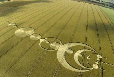 Crop circle and UFO reports released