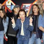 The Wiltshire Gazette and Herald: Malcolm Young, Brian Johnson, Angus Young, Phil Rudd and Cliff Williams from AC/DC (Yui Mok/PA)