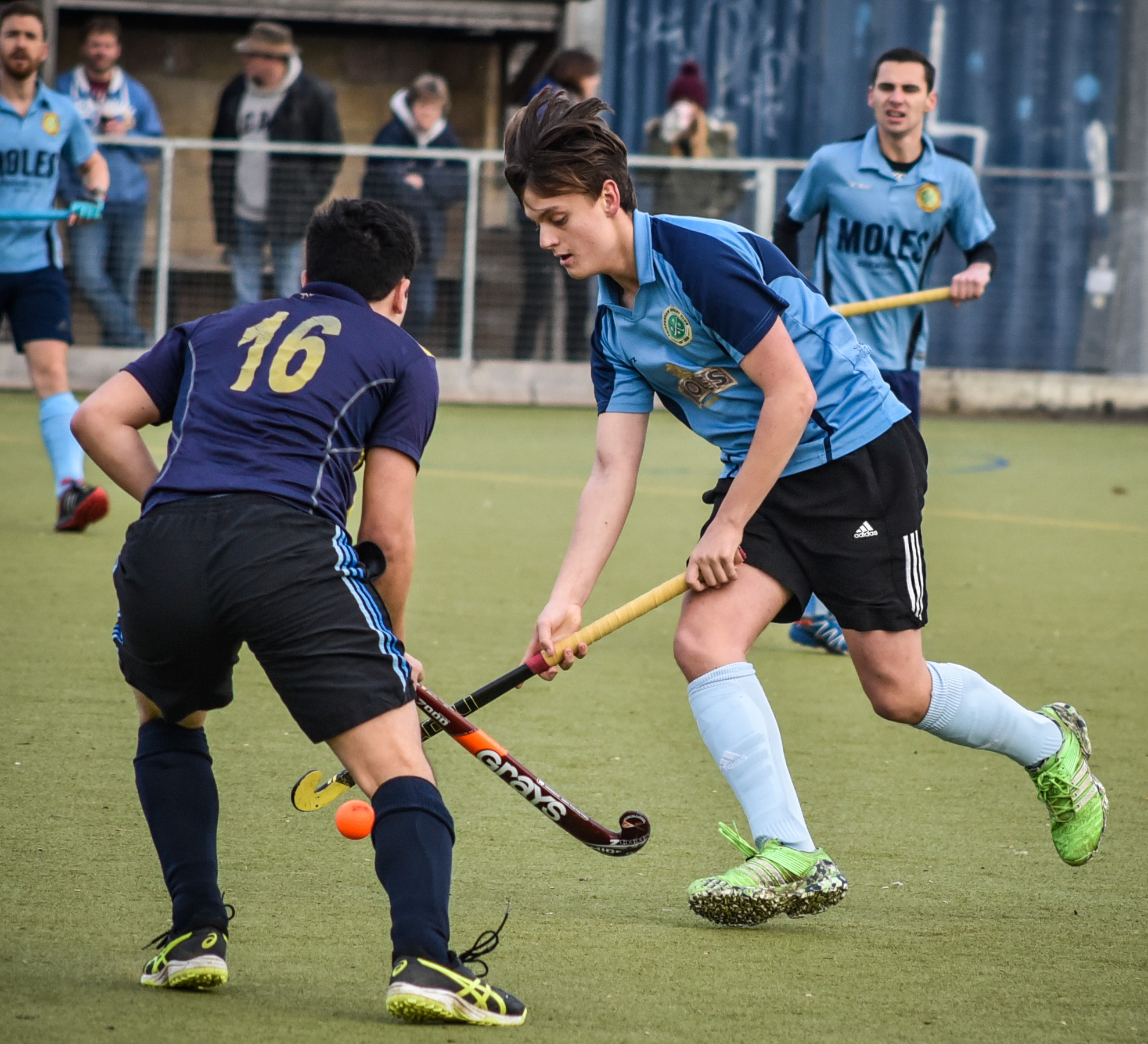 Jack Stanley on the ball for Chippenham in their 2-1 win over against Bath Buccs 4