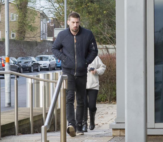Defendant Alexander May arriving at Salisbury Crown Court on the first day of trial. Photo credit: ©Nicola Salt / Marlborough.news.