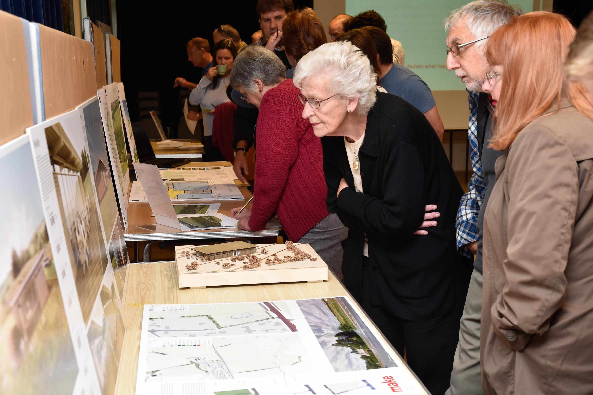 Cherhill Village Hall opened its doors on Saturday for all to see the proposed new plans for a new hall in the village. Photo from 2015, when plans were first unveiled. Photo: Paul Stallard PS114/04.