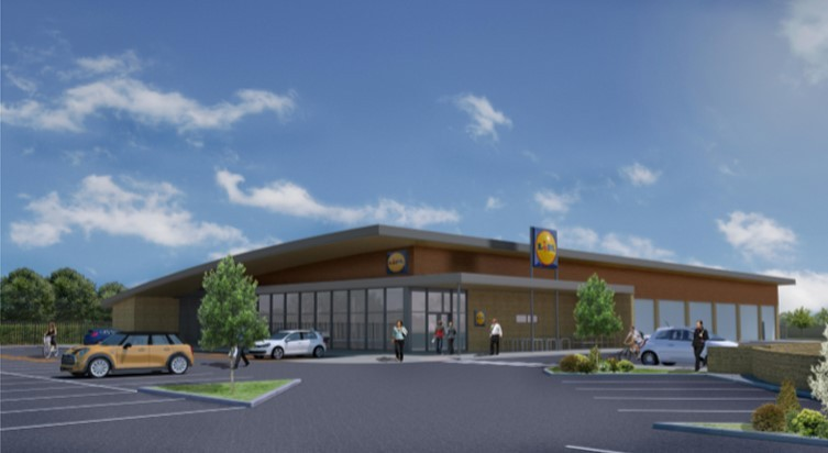CGI of the proposed Lidl store in Malmesbury