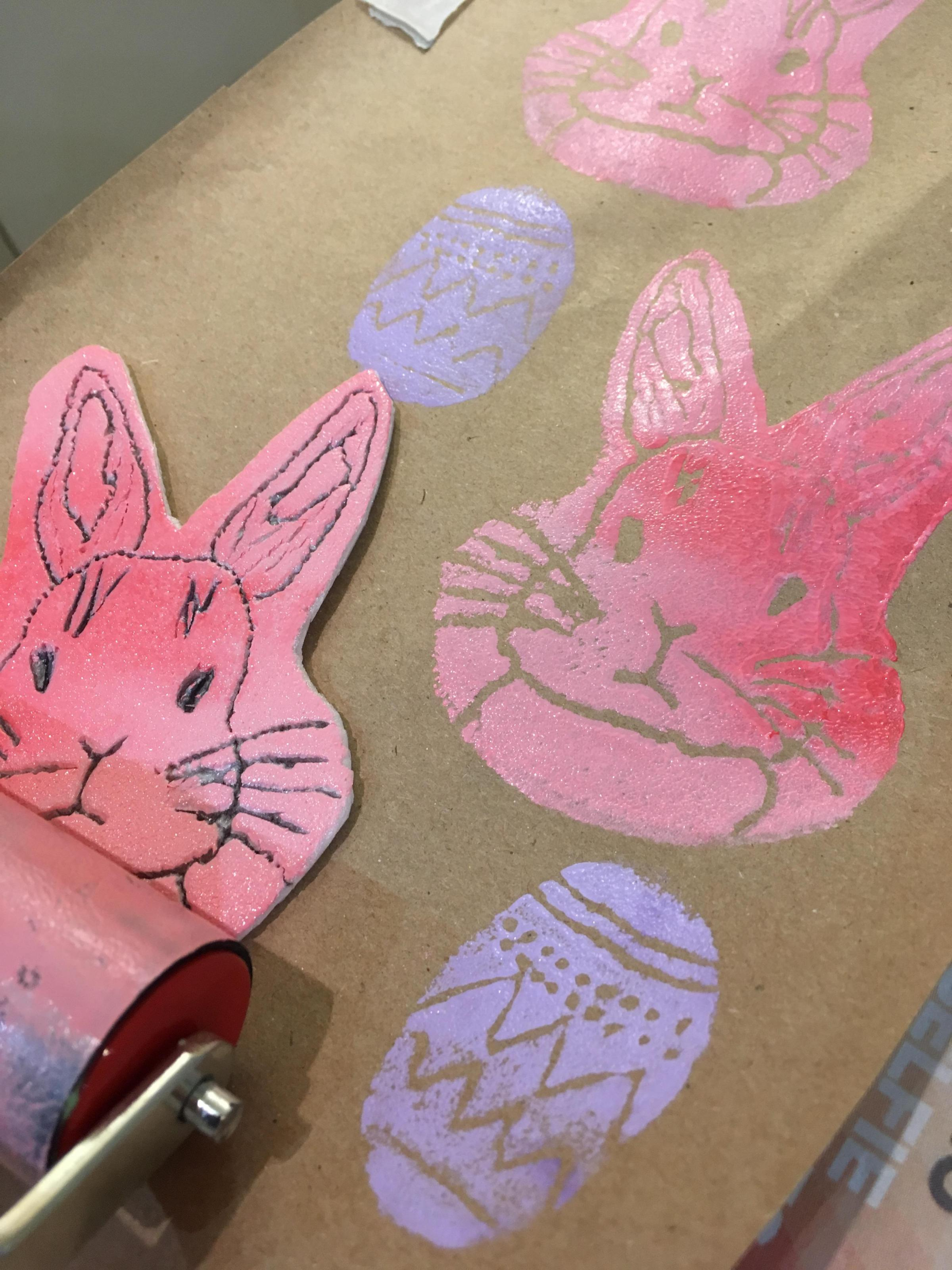 Family Easter Printmaking